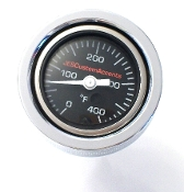"19-Pres Indian ""BLK Air filled"" Temp Gauge  . 1.5OD"