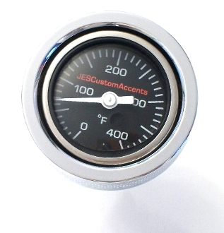 "99-05 Dyna ""Black Face Air Filled""Temperature Gauge"