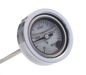 "RePlacement ""Oil Filled"" White Face Gauge 1.5OD"