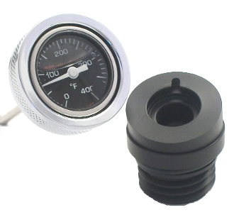 2007-16 Black Face OIL FILLED Temp. Gauge . all FLs