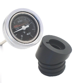 "99-05 Dyna ""Black Face OIL FILLED"" Temperature Guage"