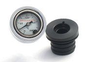 0-200 C Wht - OilFilled  Engine Oil TempGauge For  99-05 Dyna