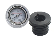 0-200 C Wht - AIR Filled  Engine Oil TempGauge 17 -P.All FLs