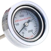 0-200 C Wht - Air  Engine Oil TempGauge for 2000-p Softail