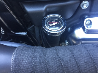 "18-P Softail  ""Blk Face Air Filled"" Temp Gauge1.5OD"